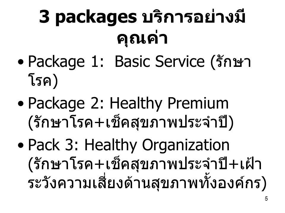 3 packages บริการอย่างมีคุณค่า