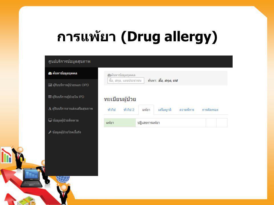 การแพ้ยา (Drug allergy)