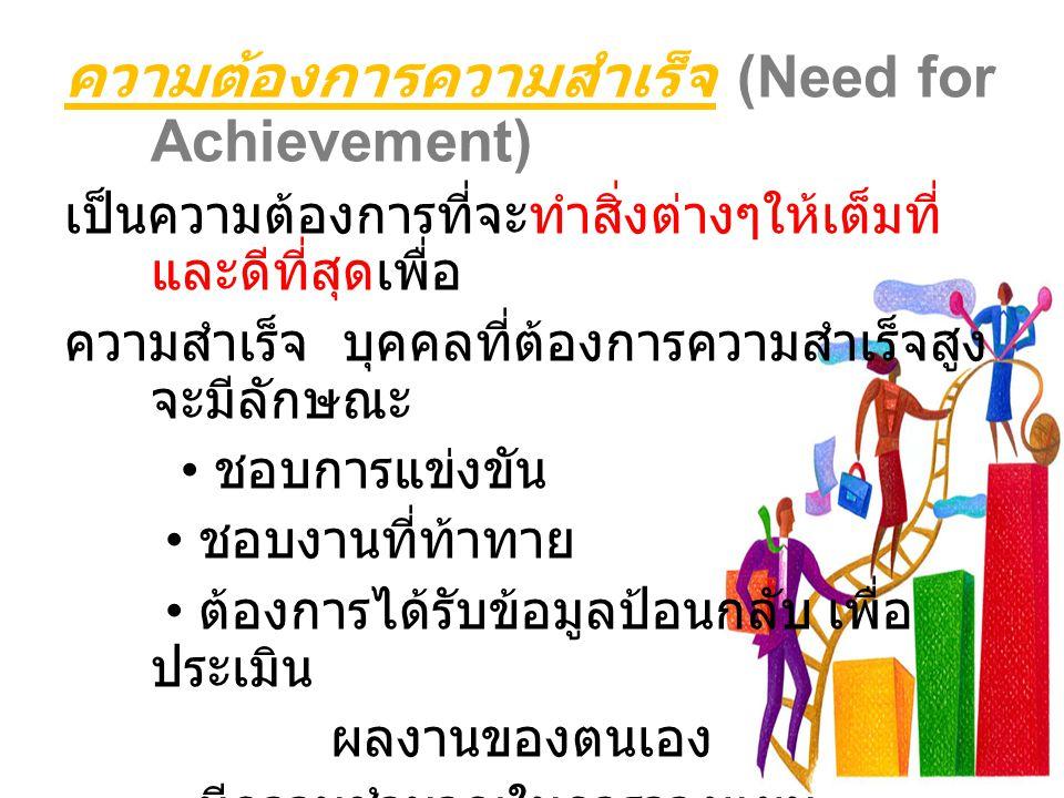 ความต้องการความสำเร็จ (Need for Achievement)
