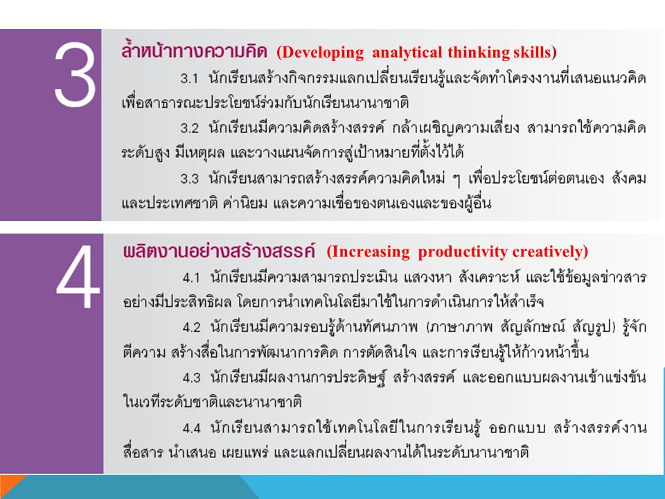 (Developing analytical thinking skills)