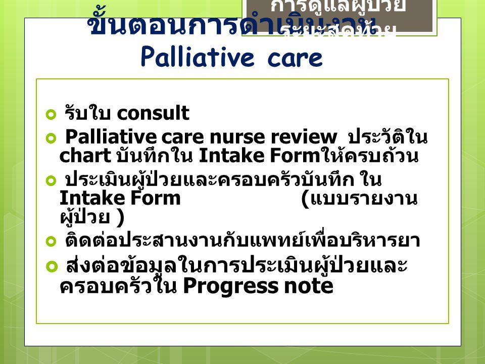 ขั้นตอนการดำเนินงาน Palliative care