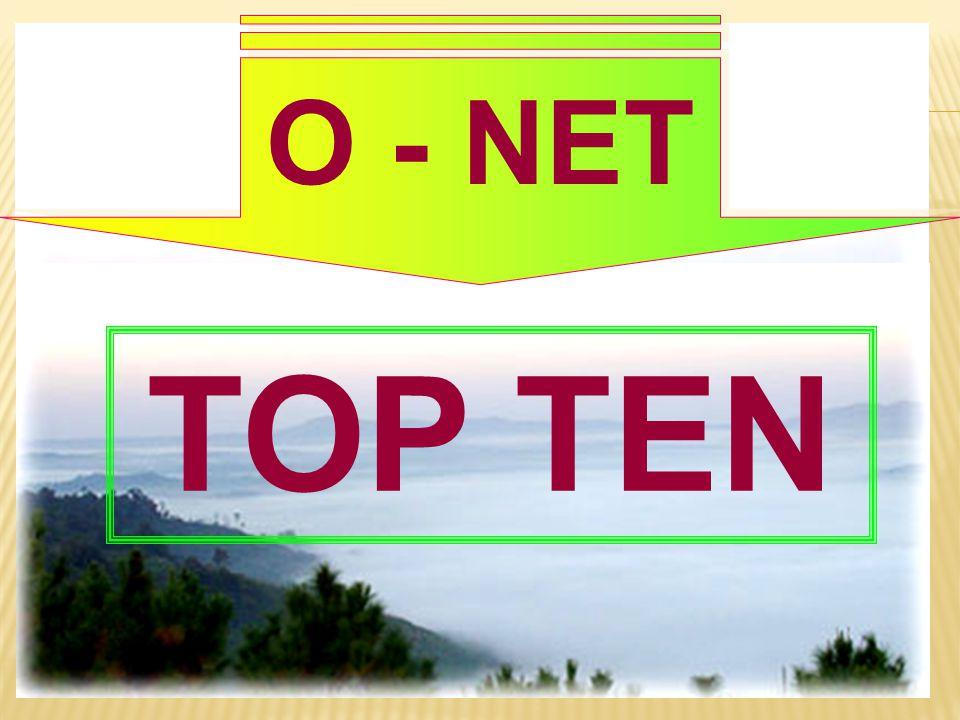 O - NET TOP TEN