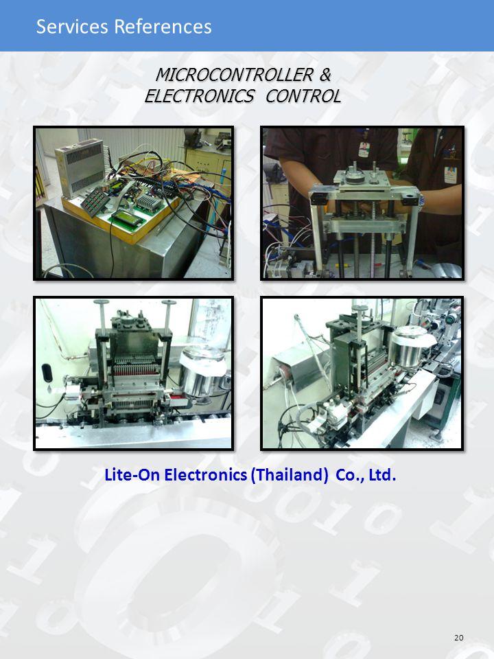 MICROCONTROLLER & ELECTRONICS CONTROL