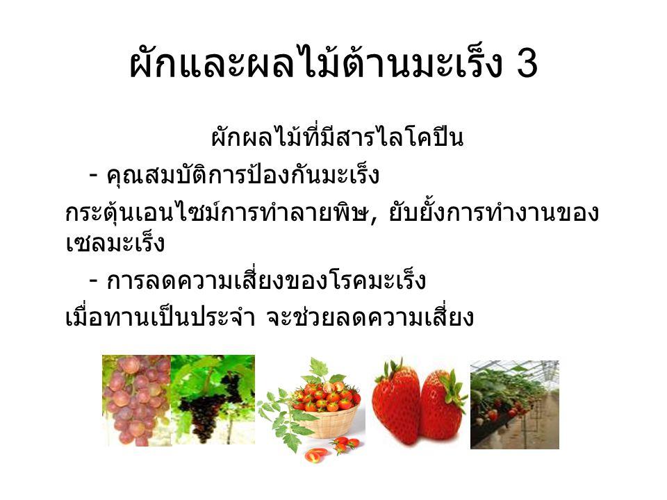ผักและผลไม้ต้านมะเร็ง 3
