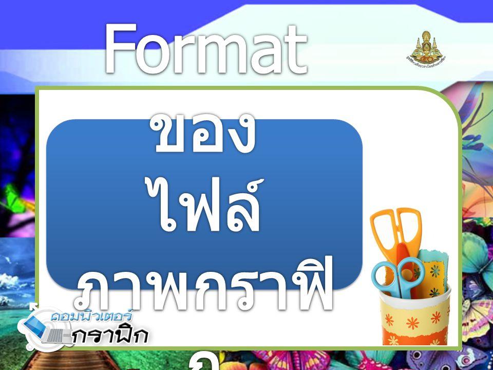 Format ของ ไฟล์ภาพกราฟิก