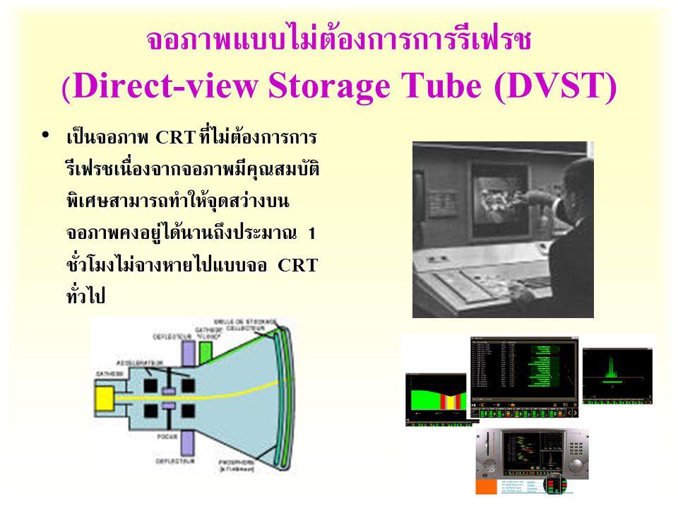 จอภาพแบบไม่ต้องการการรีเฟรช (Direct-view Storage Tube (DVST)