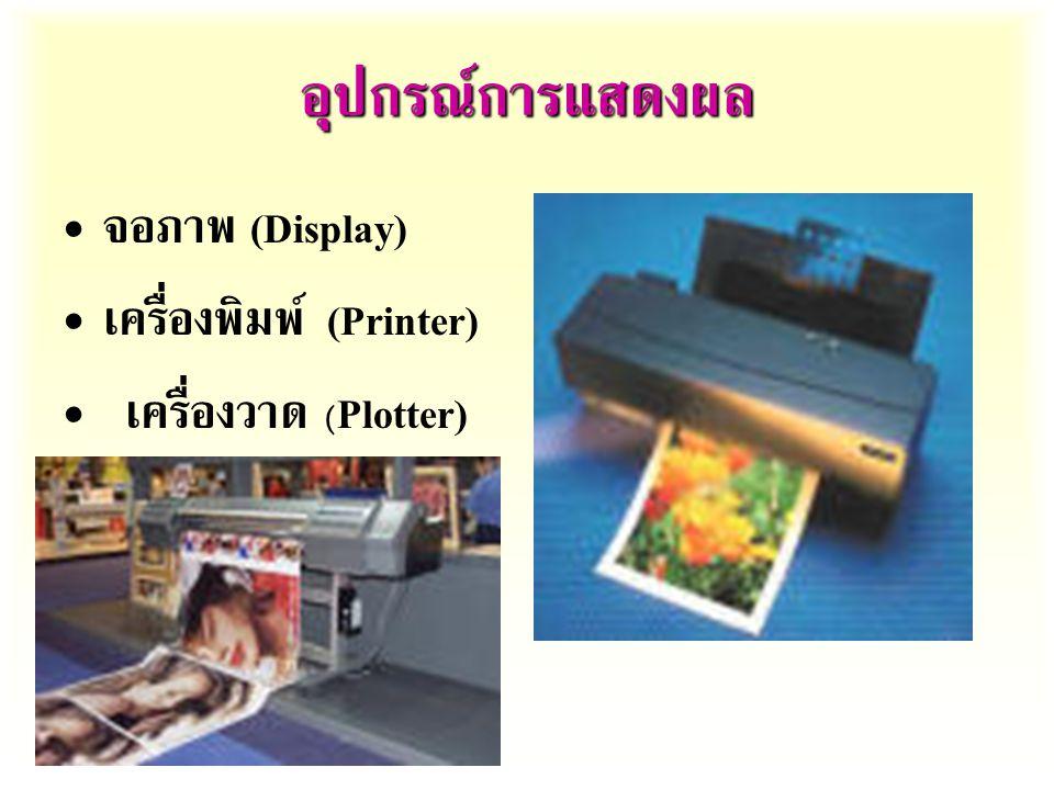 อุปกรณ์การแสดงผล จอภาพ (Display) เครื่องพิมพ์ (Printer)