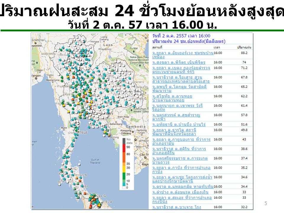 ปริมาณฝนสะสม 24 ชั่วโมงย้อนหลังสูงสุด