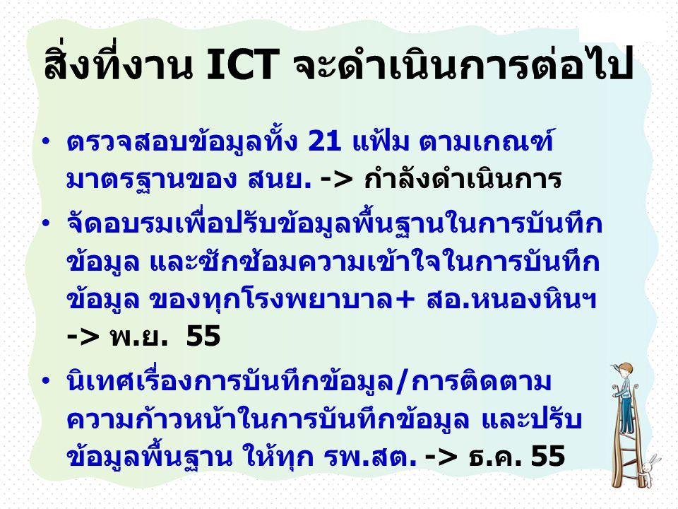 สิ่งที่งาน ICT จะดำเนินการต่อไป