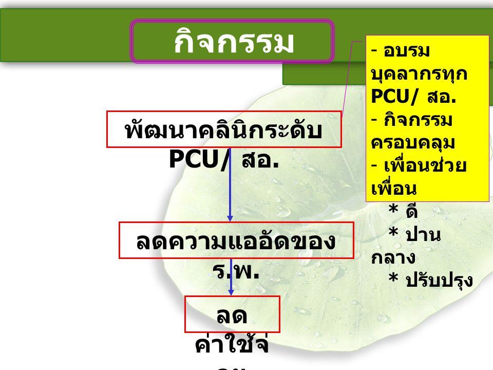 พัฒนาคลินิกระดับ PCU/ สอ.
