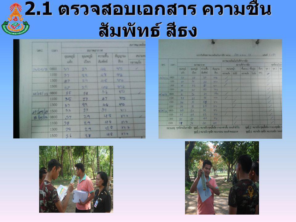 2.1 ตรวจสอบเอกสาร ความชื้นสัมพัทธ์ สีธง