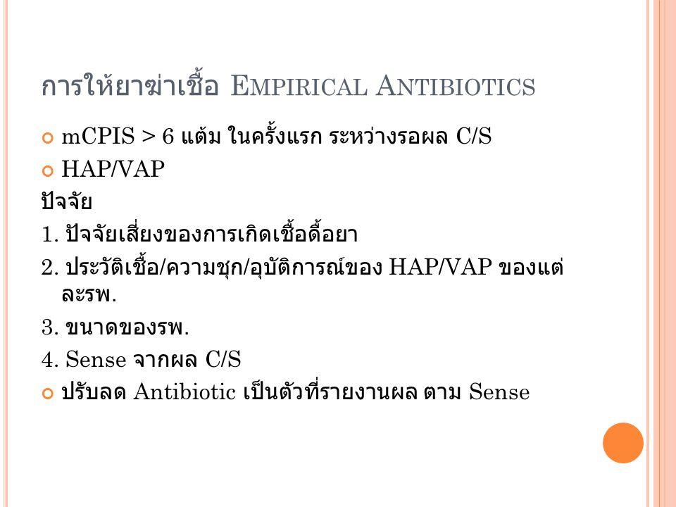 การให้ยาฆ่าเชื้อ Empirical Antibiotics
