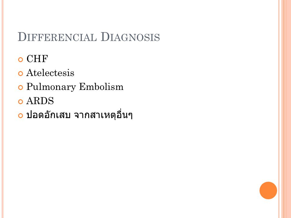Differencial Diagnosis