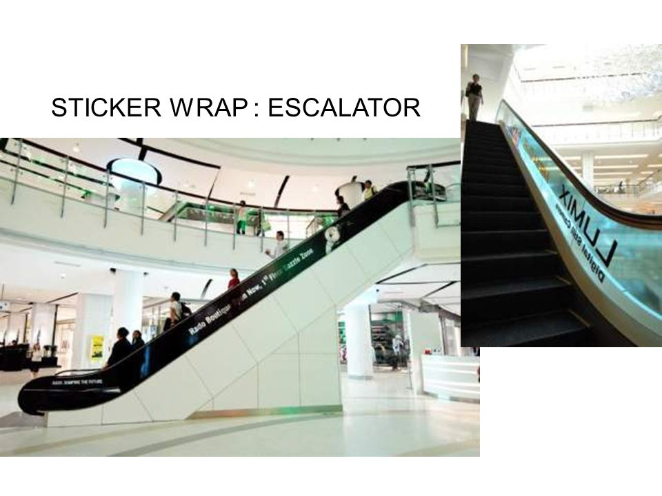 STICKER WRAP : ESCALATOR