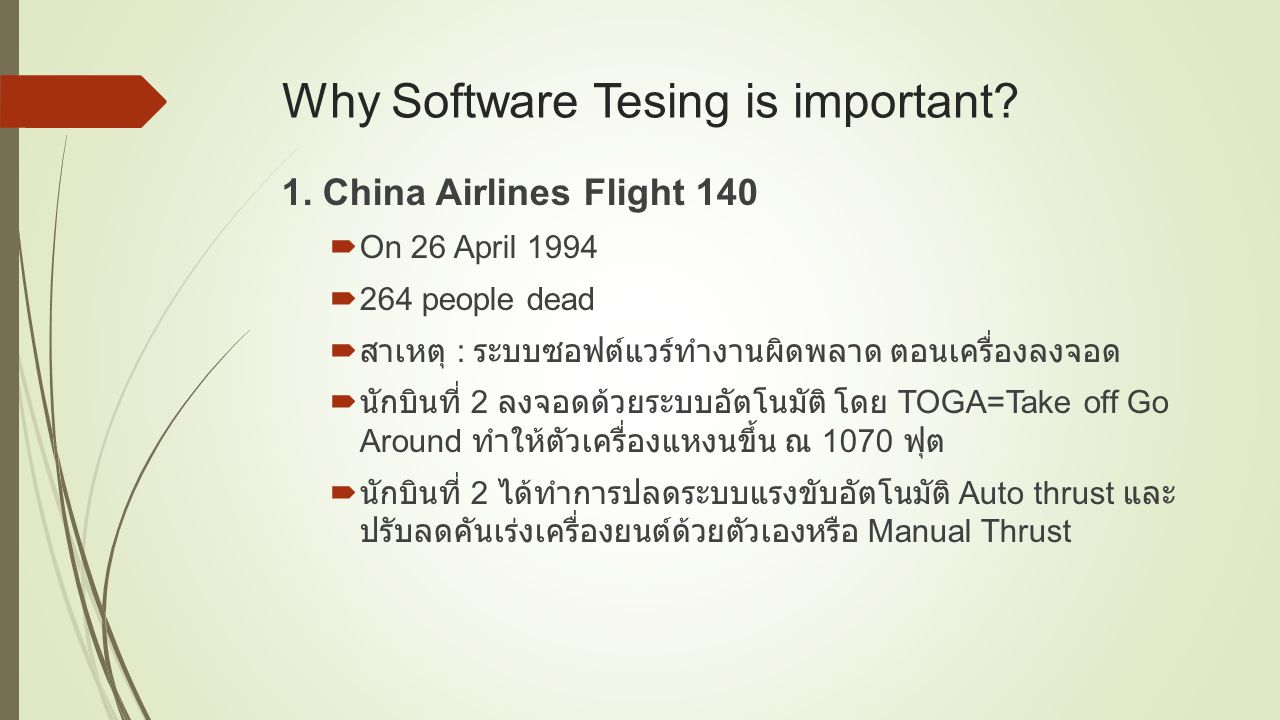 Why Software Tesing is important