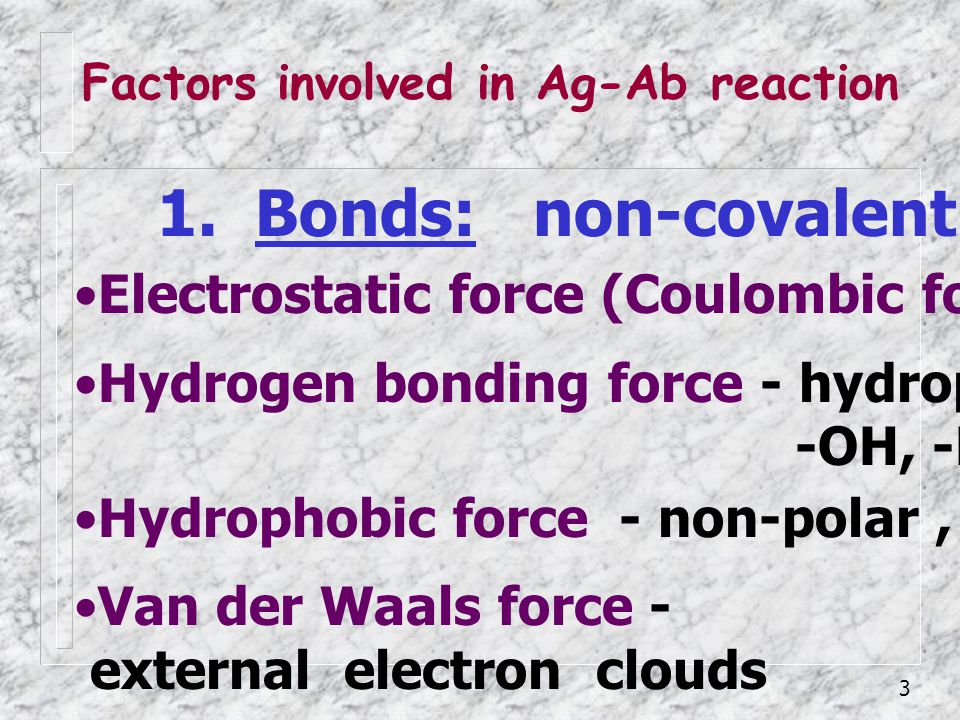 1. Bonds: non-covalent bond