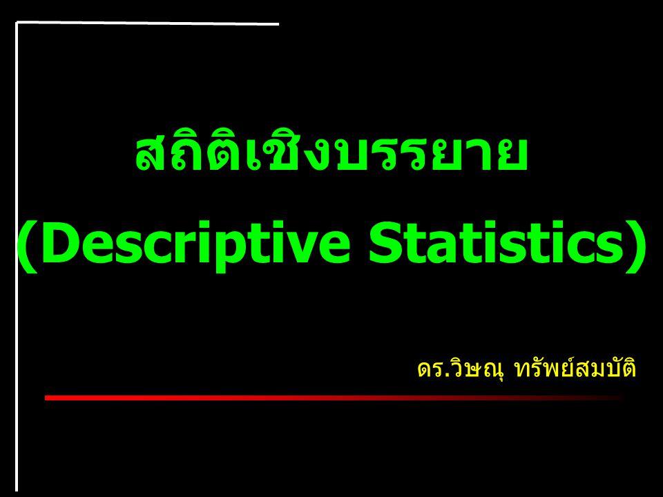 (Descriptive Statistics)