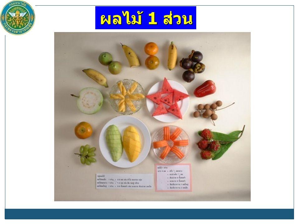 ผลไม้ 1 ส่วน