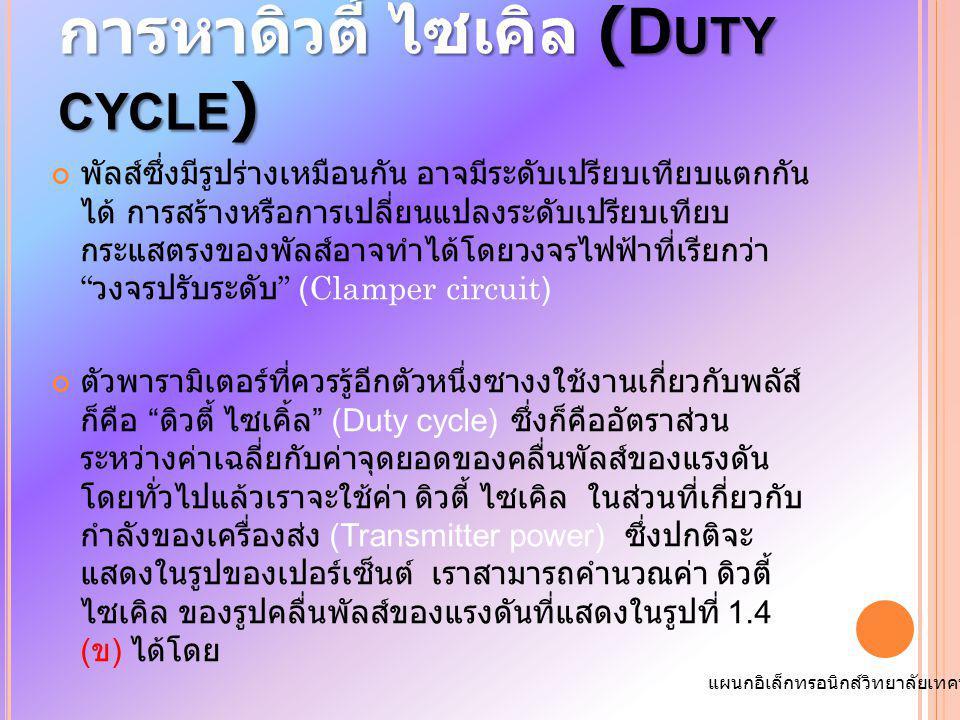 การหาดิวตี้ ไซเคิล (Duty cycle)