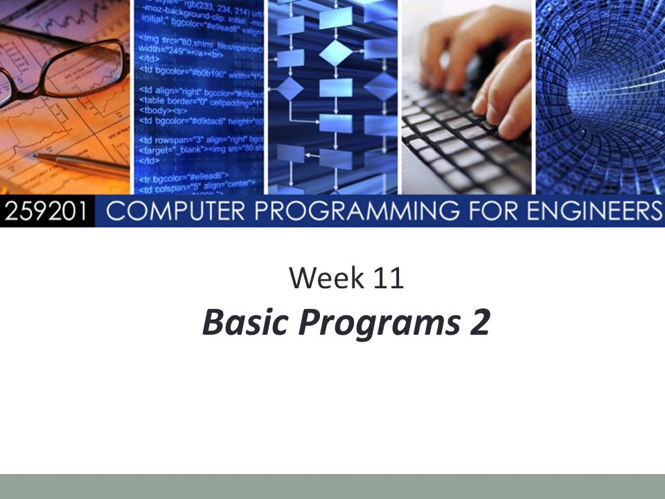 Week 11 Basic Programs 2