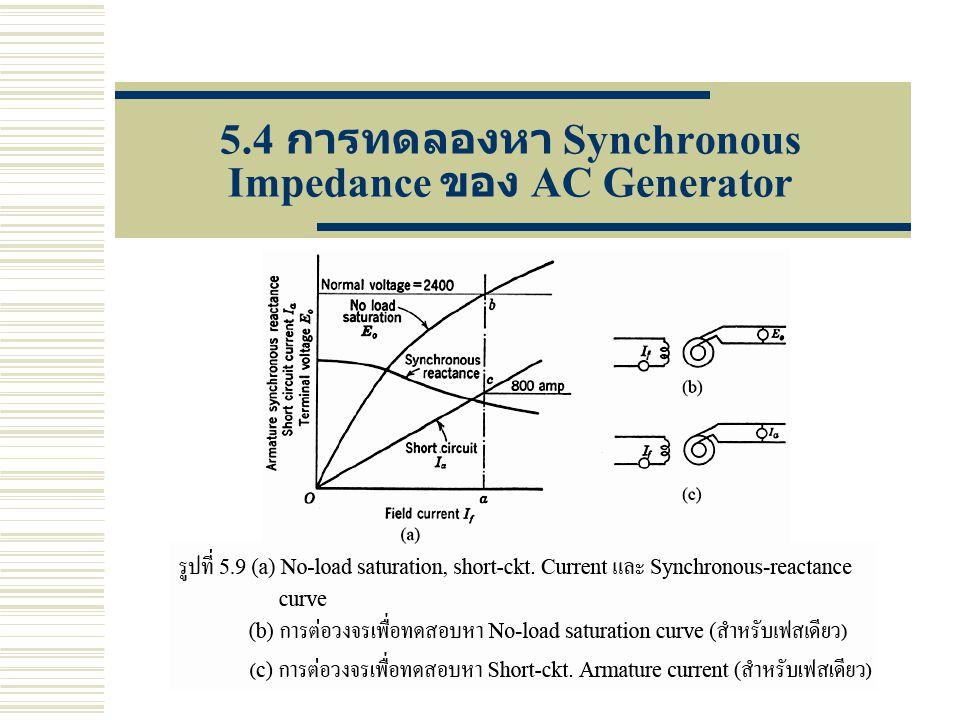 5.4 การทดลองหา Synchronous Impedance ของ AC Generator