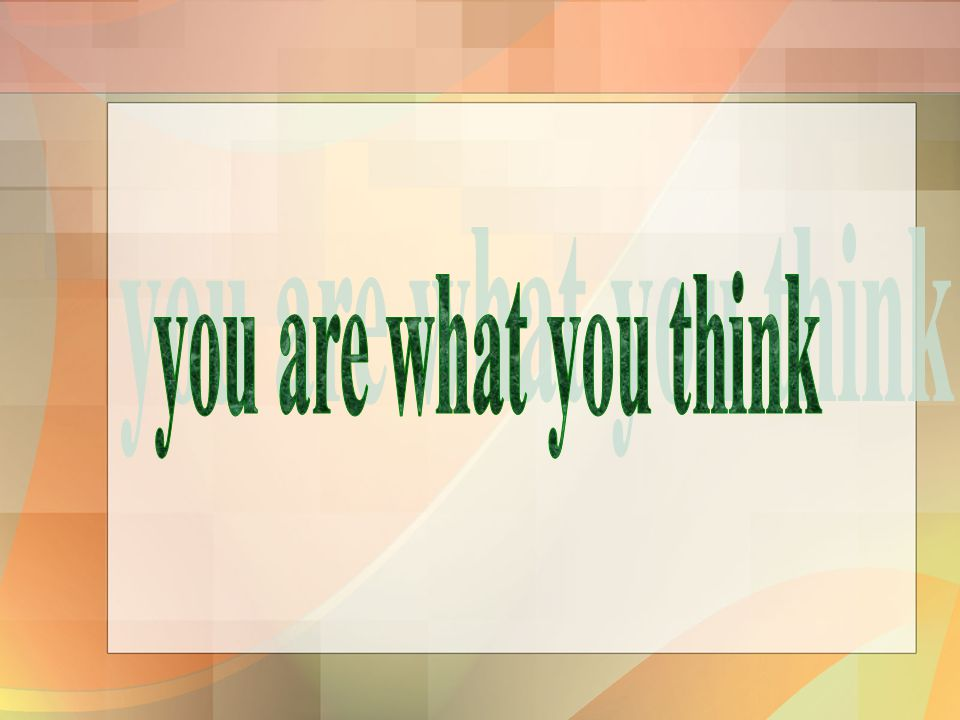 you are what you think มะนาว/2 มือ/กดแขน ความคิดเกี่ยวข้องอะไรกับความเชื่อ