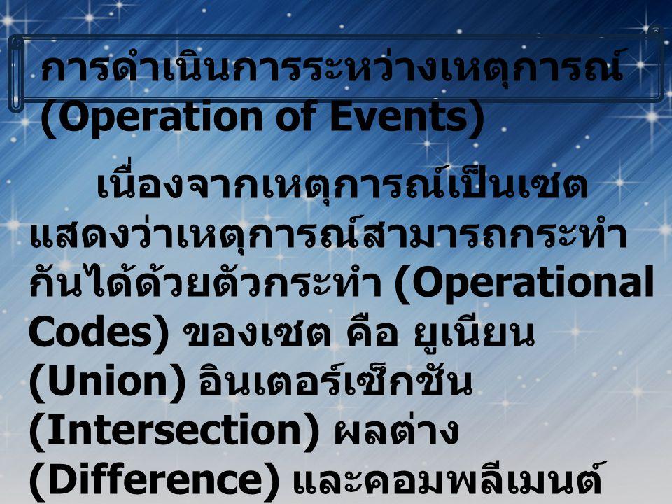 การดำเนินการระหว่างเหตุการณ์(Operation of Events)