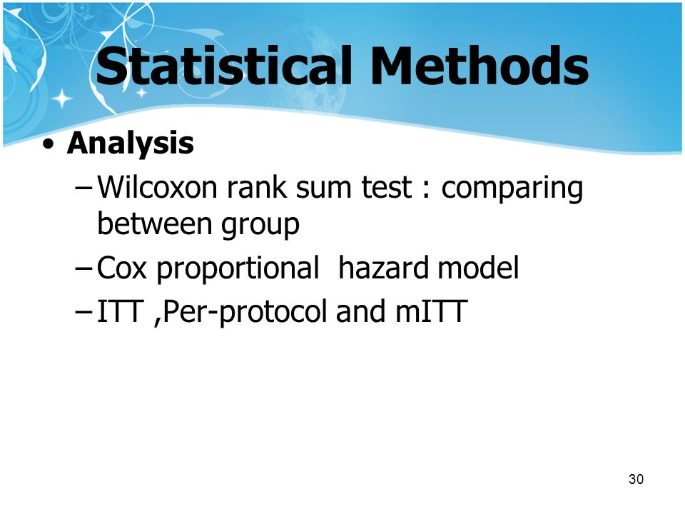 Statistical Methods Analysis