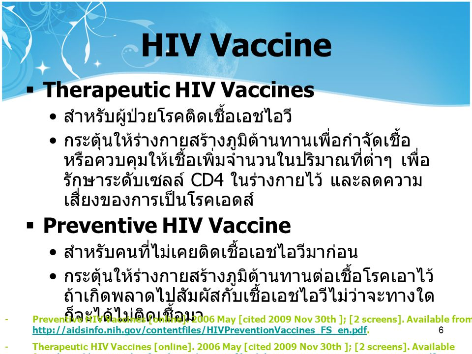HIV Vaccine Therapeutic HIV Vaccines Preventive HIV Vaccine