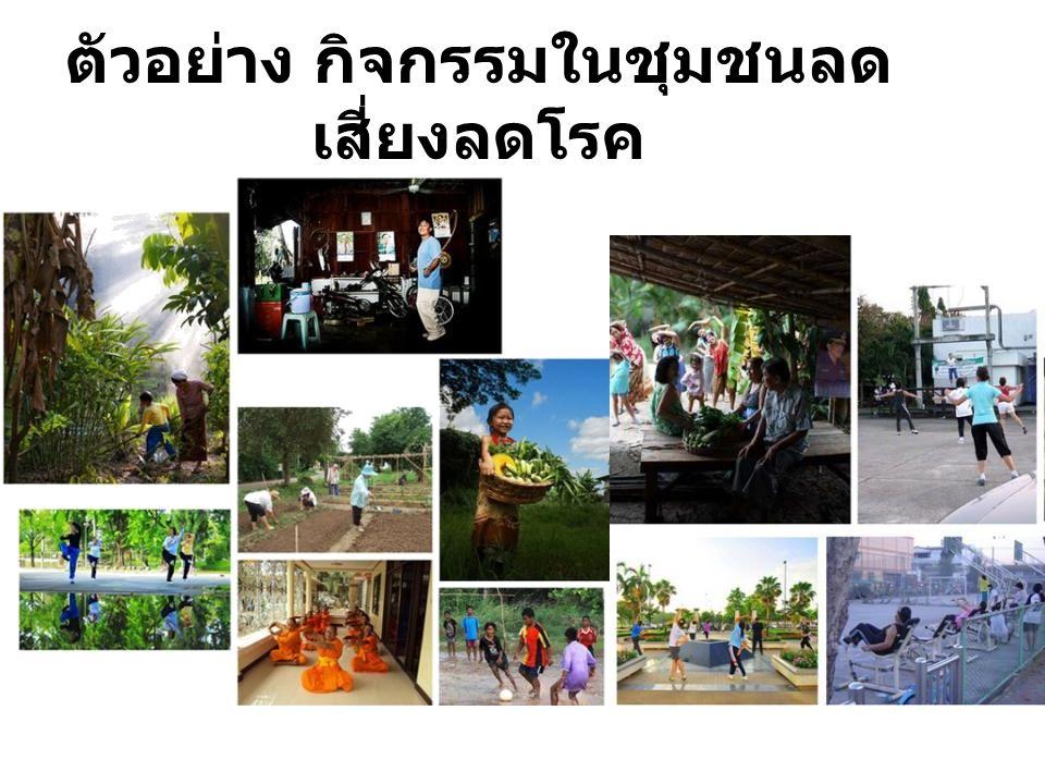 ตัวอย่าง กิจกรรมในชุมชนลดเสี่ยงลดโรค