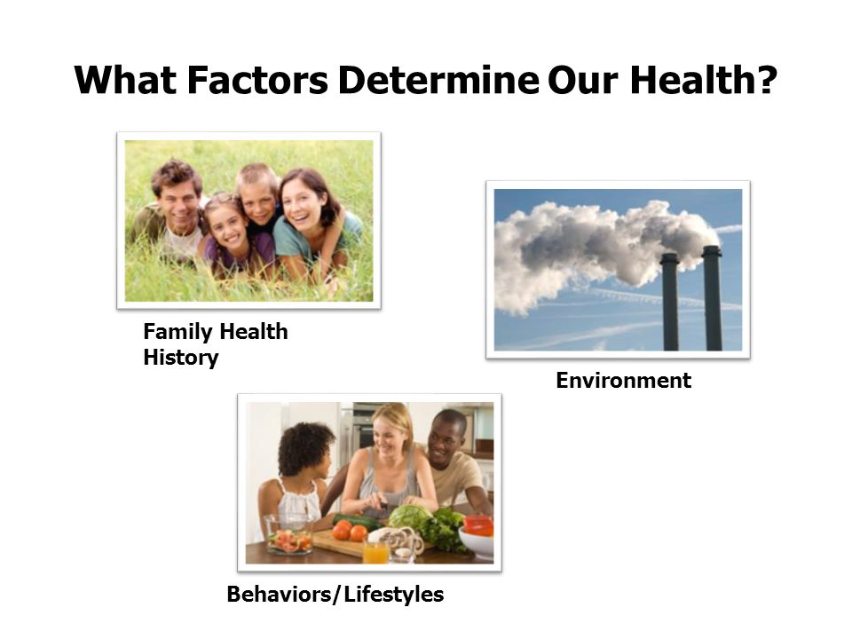 What Factors Determine Our Health