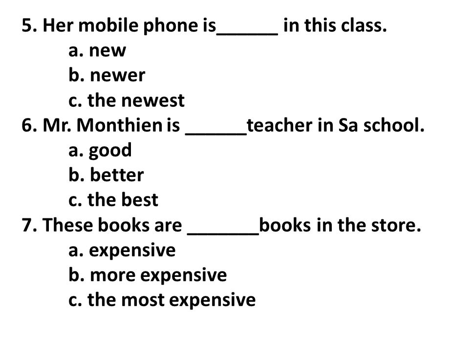 5. Her mobile phone is______ in this class.