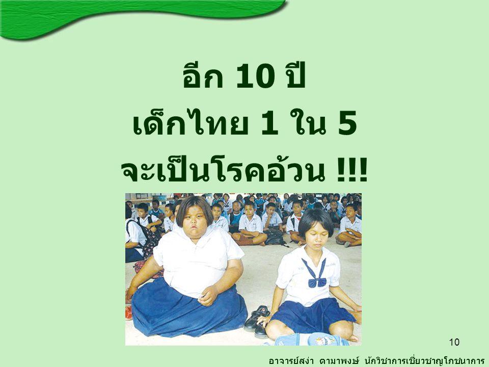 อีก 10 ปี เด็กไทย 1 ใน 5 จะเป็นโรคอ้วน !!!