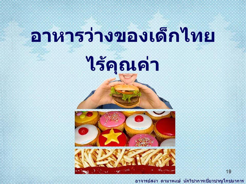 อาหารว่างของเด็กไทย ไร้คุณค่า