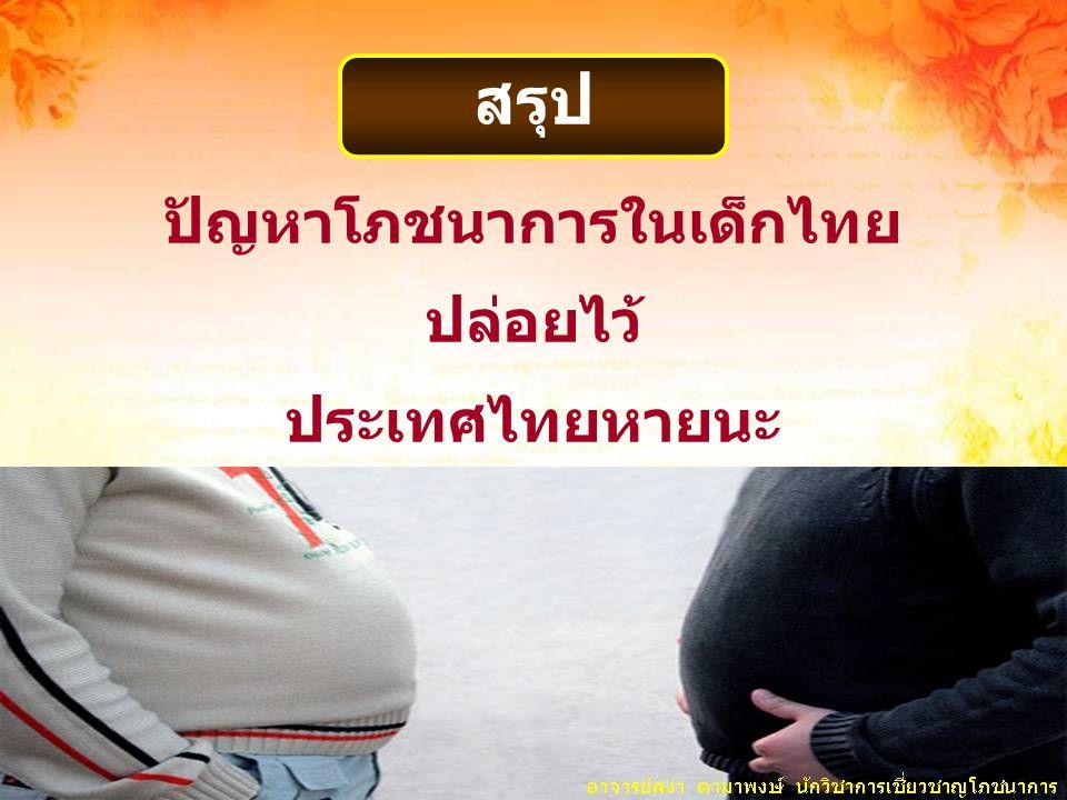 ปัญหาโภชนาการในเด็กไทย