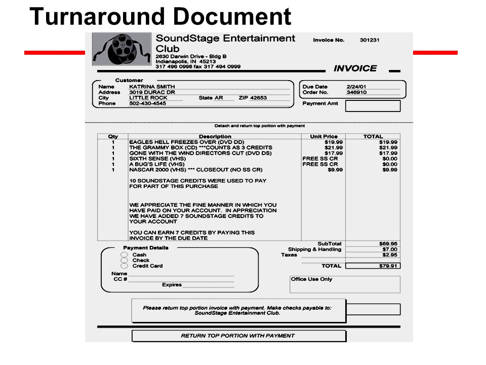 Turnaround Document
