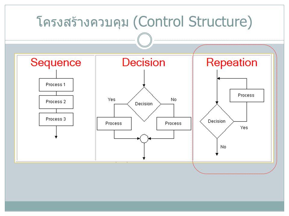 โครงสร้างควบคุม (Control Structure)