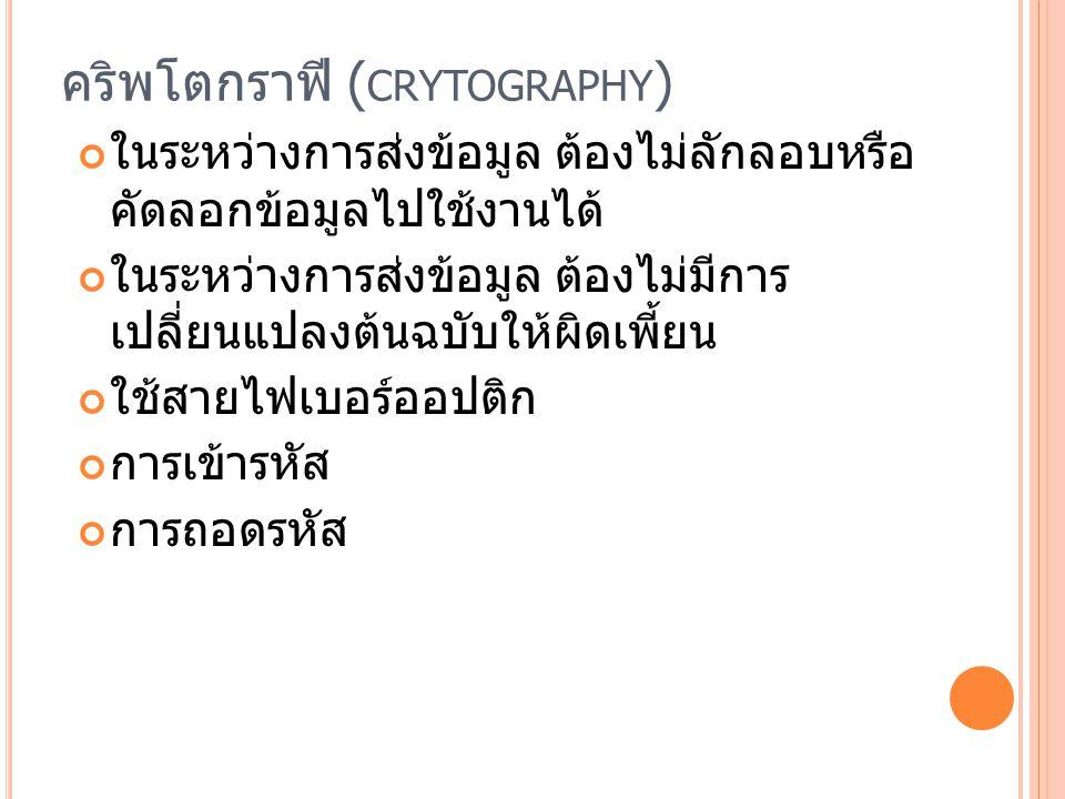คริพโตกราฟี (crytography)