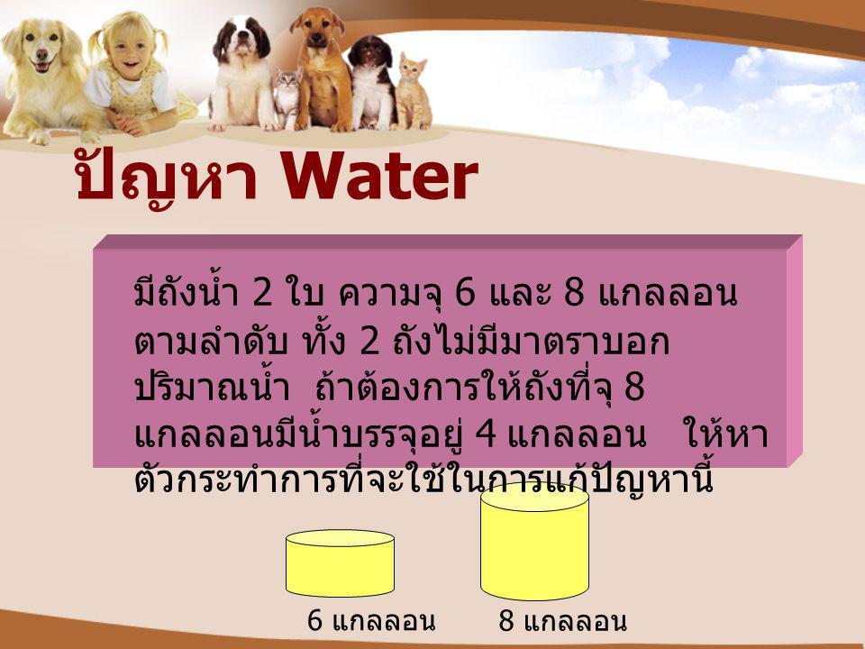 ปัญหา Water