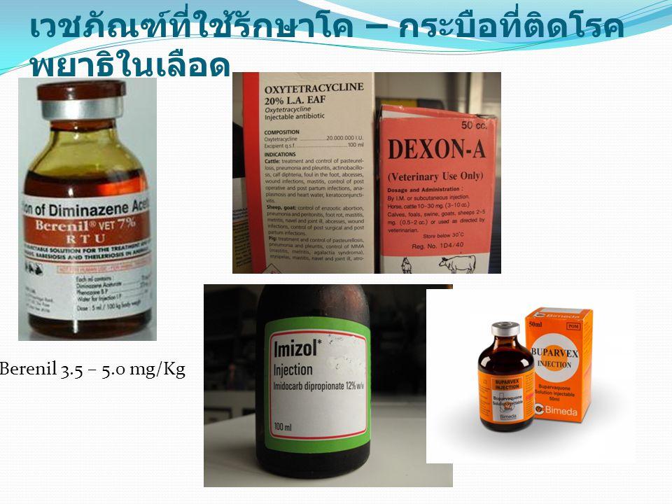 เวชภัณฑ์ที่ใช้รักษาโค – กระบือที่ติดโรคพยาธิในเลือด