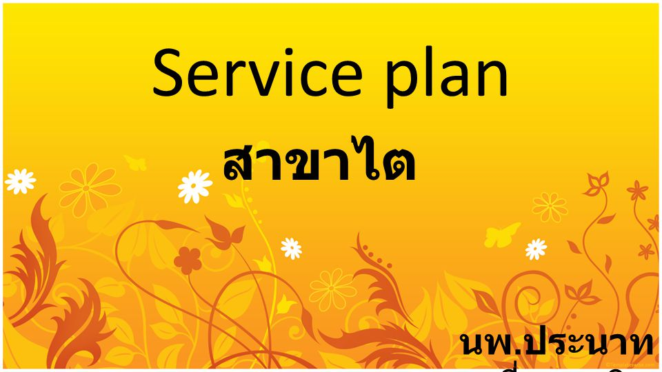 Service plan สาขาไต นพ.ประนาท เชี่ยววานิช