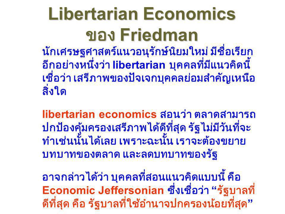 Libertarian Economics ของ Friedman