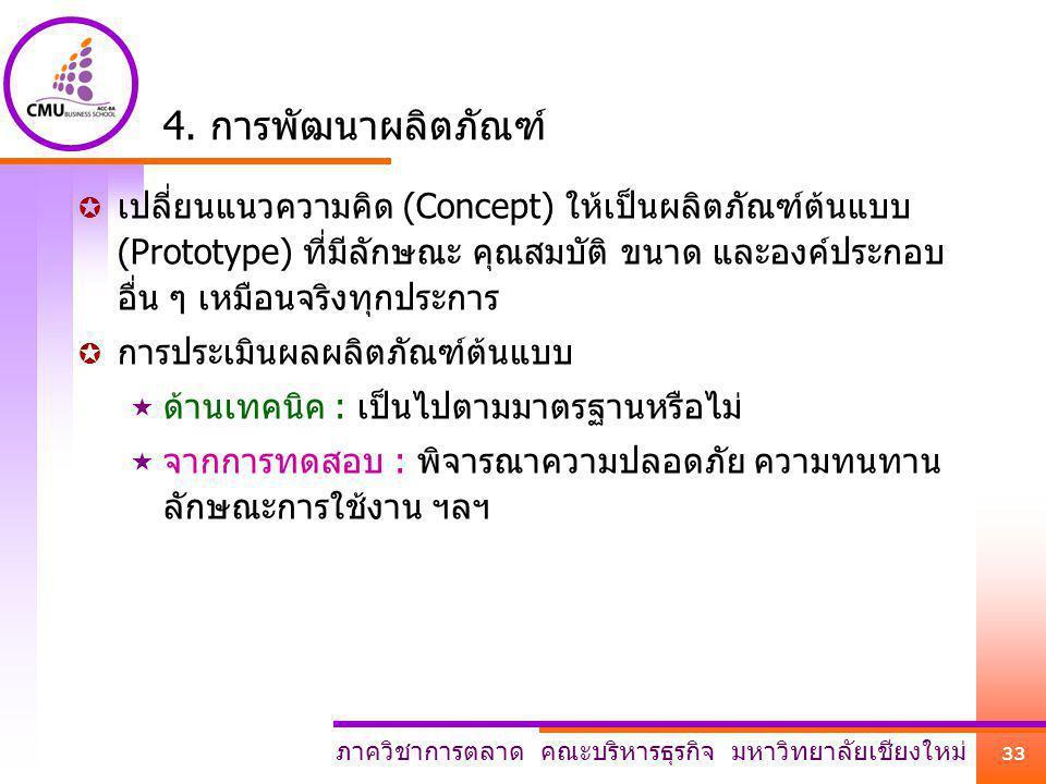 4. การพัฒนาผลิตภัณฑ์