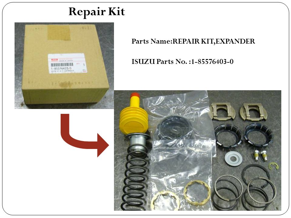 Repair Kit Parts Name:REPAIR KIT,EXPANDER