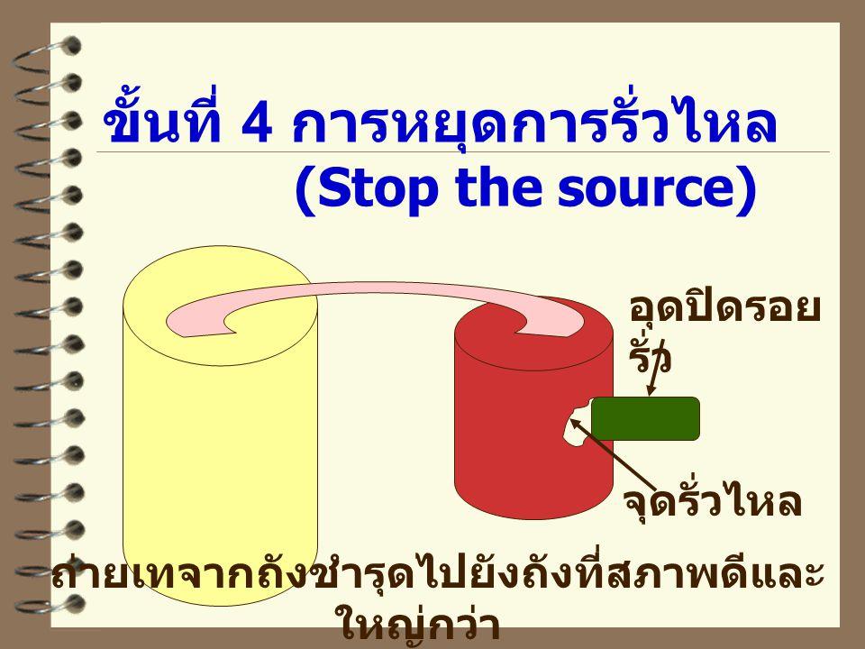 ขั้นที่ 4 การหยุดการรั่วไหล (Stop the source)