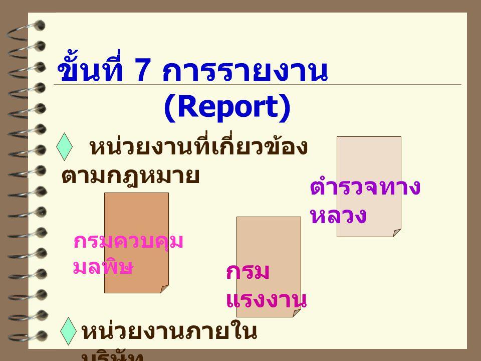 ขั้นที่ 7 การรายงาน (Report)