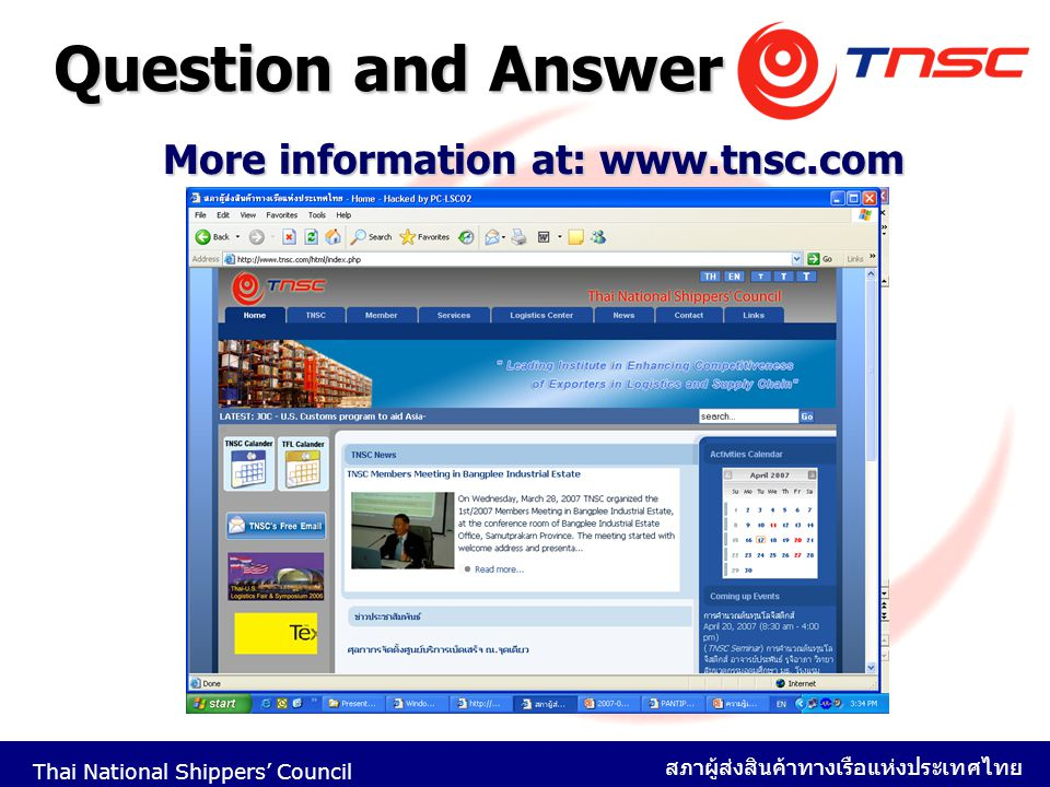 More information at: www.tnsc.com