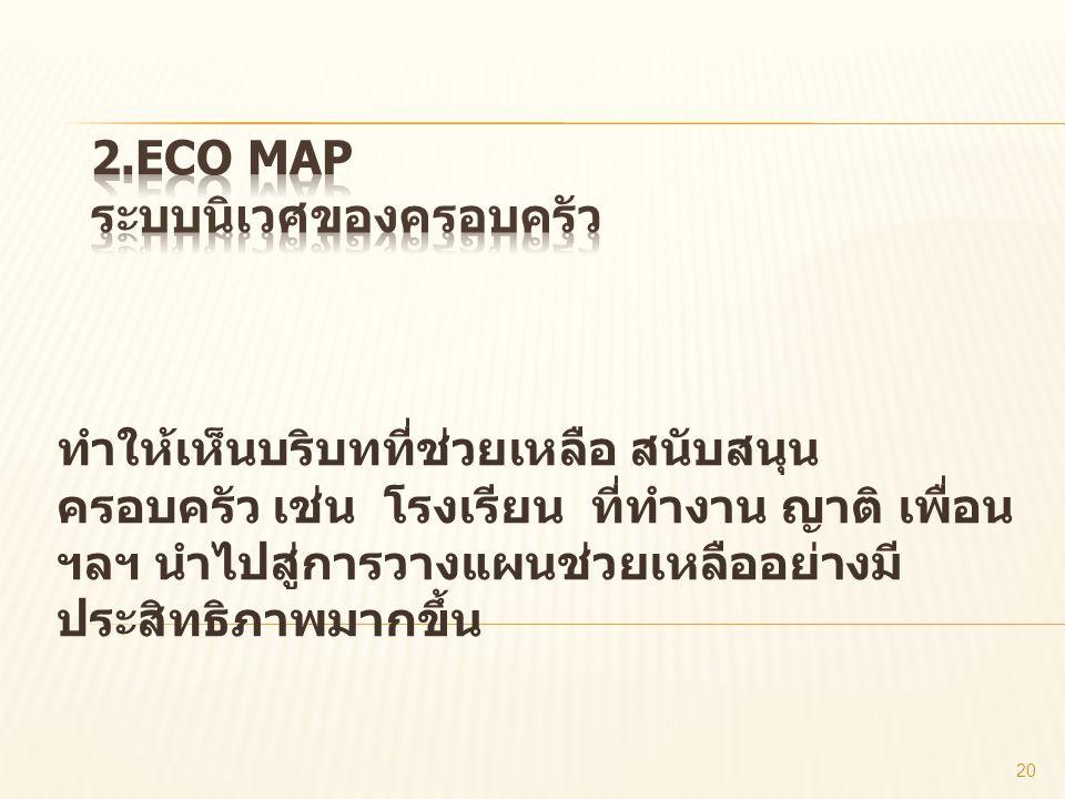 2.Eco map ระบบนิเวศของครอบครัว