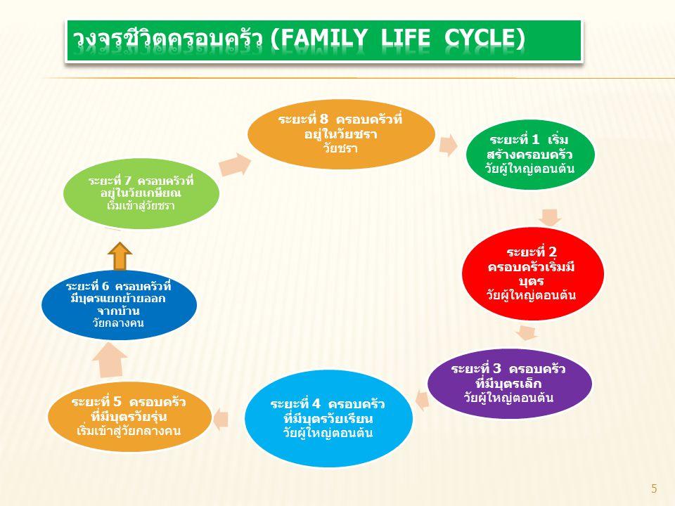 วงจรชีวิตครอบครัว (Family Life Cycle)