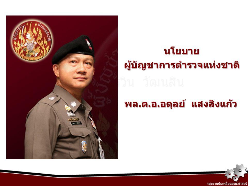 นโยบาย ผู้บัญชาการตำรวจแห่งชาติ